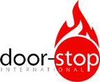 door stop fire logo